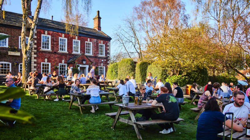 The Mustard Pot Beer Garden in Chapel Allerton