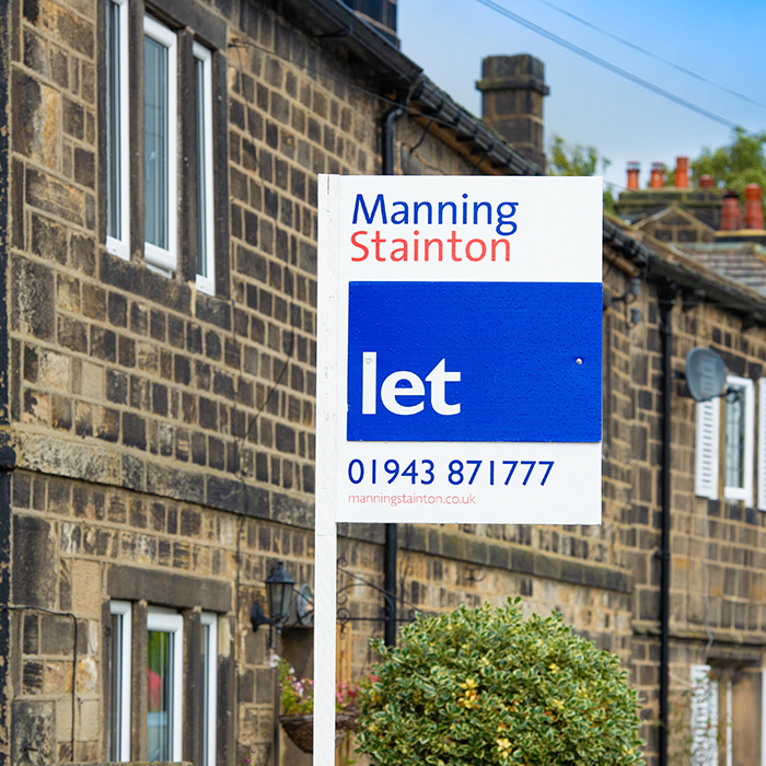 Manning Stainton Let board in Leeds