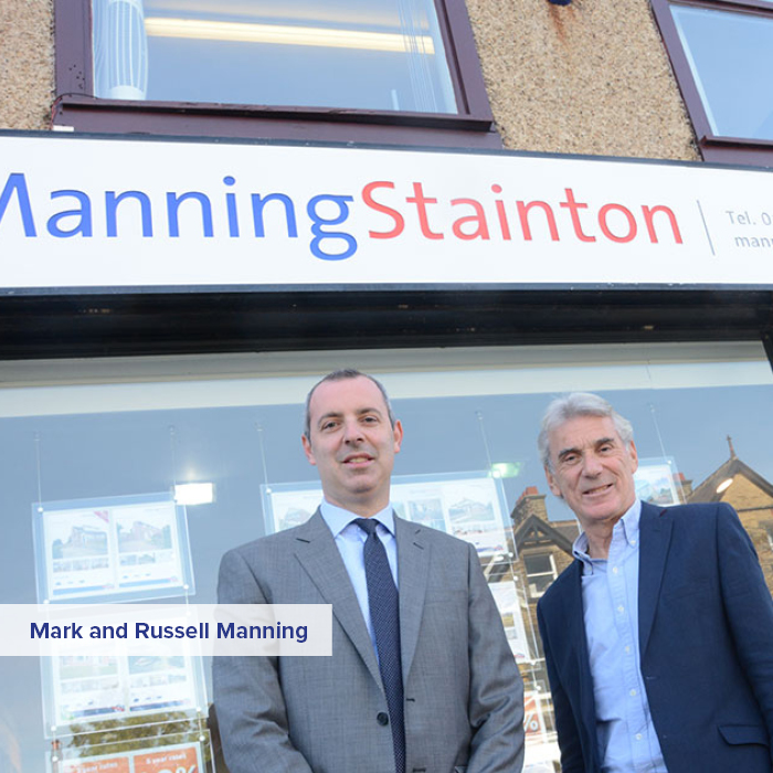 Mark and Russell Manning outside Horsforth branch