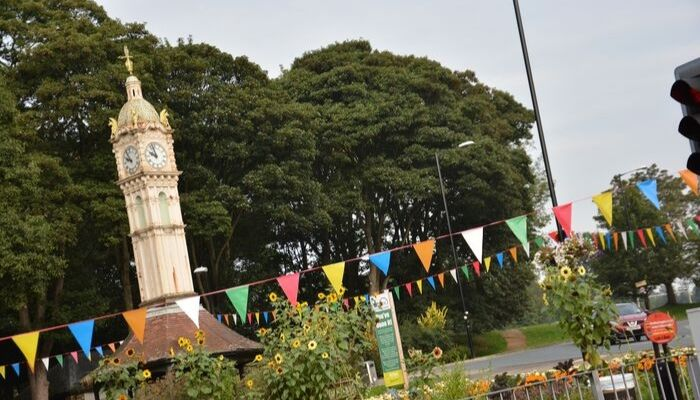 The Oakwood Clock in the heart of Oakwood