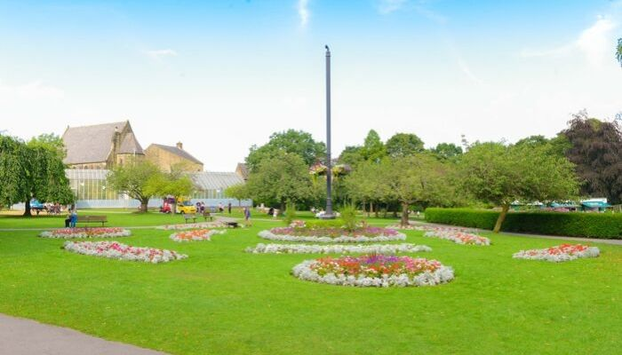 Picturesque flowerbeds at Pudsey Park