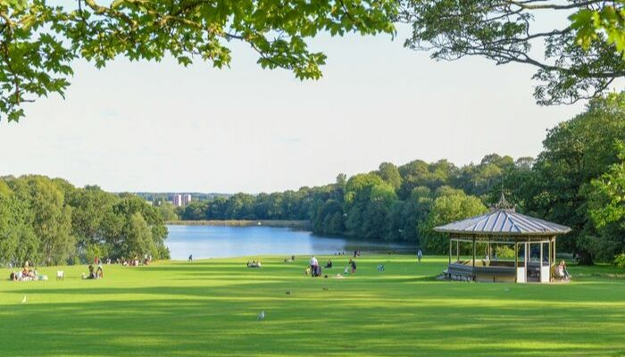 A summers day in Roundhay Park, Leeds